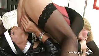 Horny TGirl Nun Zoe Fuck Puppet takes hot Shemales big load