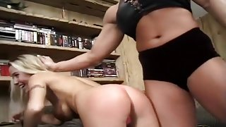 Muscle Basbe Nicole Bass Humiliates And Spanks Kristy Myst