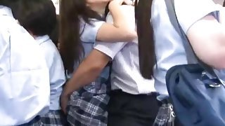 Asian Schoolgirl gets fucked on a bus