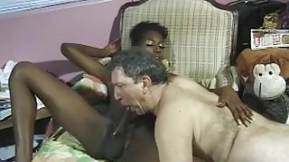 White daddy and black shemale