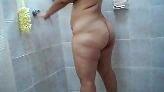 huge behind shower