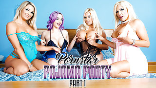 Aaliyah Ca Pelle & Jasmine James & Michelle Thorne & Sienna Day in Porn Star Pajama Party Part 1 - DigitalPlayground