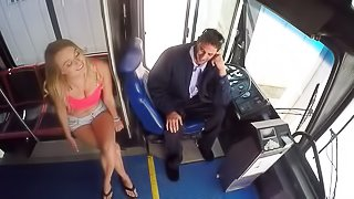 She is getting drilled by the driver