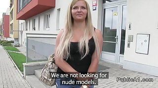 Big ass amateur blonde fucking POV in public
