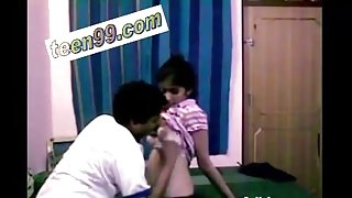 Indian lovers Enjoying themselves by kissing each other - www.teen99.com