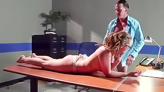 Sensational sex session on the table