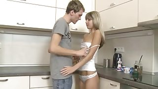 Skinny Russian teen Doris gets a creampie