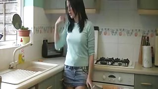 legal age teenager smoking in kitchen